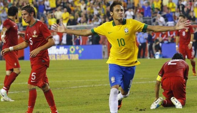 Com show de Neymar, Brasil derrotou Portugal por 3 a 1 em Boston, nos EUA - Foto: Brian Snyder / Agência Reuters