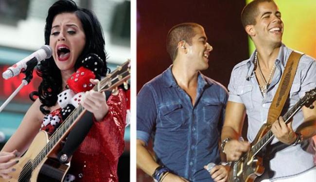 Katy Perry cantaria ao lado de Rafa e Pipo Marques, da Oito7Nove4 - Foto: AP e Margarida Neide | Ag. A TARDE