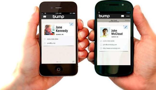 Aplicativo permite trocas de arquivos apenas encostando os smartphones - Foto: Divulgação