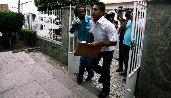 Alan Trigueiros foi ouvido nesta manhã durante o julgamento - Foto: Luiz Tito   Ag. A TARDE
