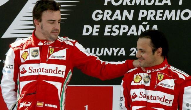 Presidente da Ferrari aposta que boas provas de Massa vão ajudar Alonso na luta pelo título - Foto: Alberto Estévez / Agência EFE