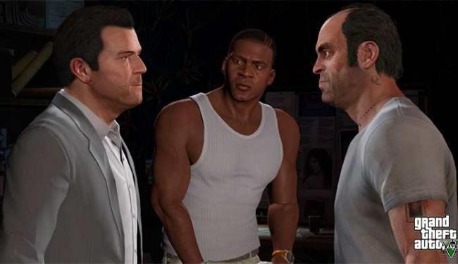 GTA V tem, pela primeira vez, três protagonistas - Foto: Divulgação