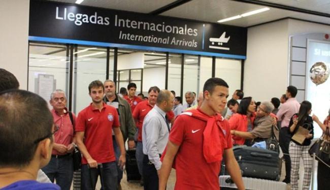 Bahia já está na Colômbia para jogo quinta pela Sul-Americana - Foto: Assessoria do Bahia | Divulgação