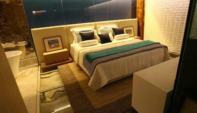 Loft tem cama que vibra para garantir um sono revigorante - Foto: Margarida Neide | Ag. A TARDE