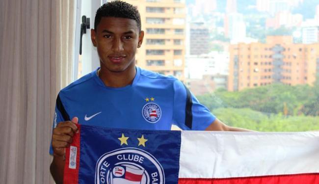 Angulo já enfrentou o Nacional de Medellín quando defendia o Deportivo Cali e o Cúcuca - Foto: Esporte Clube Bahia / Divulgação