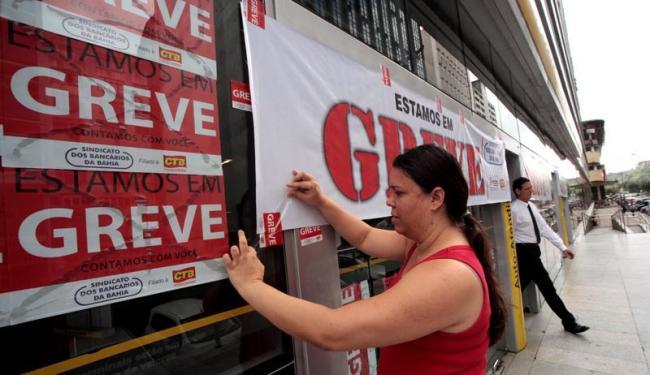 A greve dos bancários foi deflagrada na última quinta-feira em todo o País - Foto: Ascom | Sindicato dos Bancários da Bahia