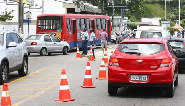 Barão de Itapuã foi uma das ruas com o trânsito alterado - Foto: Fernando Amorim | Ag. A TARDE