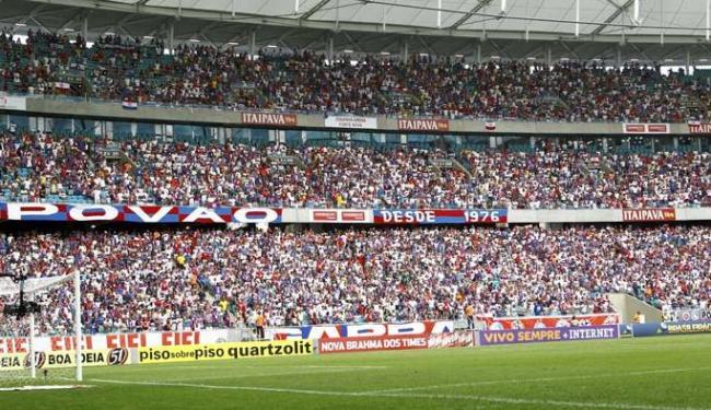 Público de 31.946 pagantes na Arena Fonte Nova foi o melhor do Bahia no Brasileirão até o momento - Foto: Eduardo Martins   Ag. A Tarde