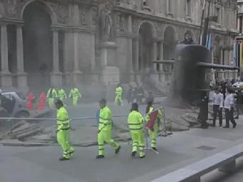 Atores foram usados para simular bombeiros e equipe de resgate - Foto: Reprodução