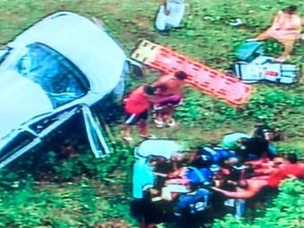 Socorristas do Samu estão no local para atender as vítimas - Foto: Reprodução | TV Record