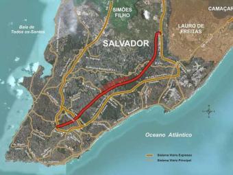 Mapa da Linha Viva - Foto: Reprodução