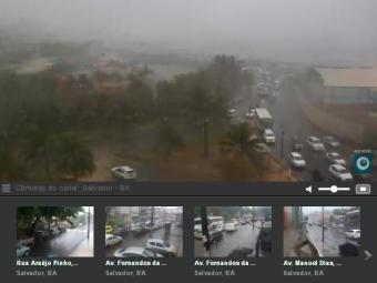 Veja como está o trânsito na cidade - Foto: Reprodução