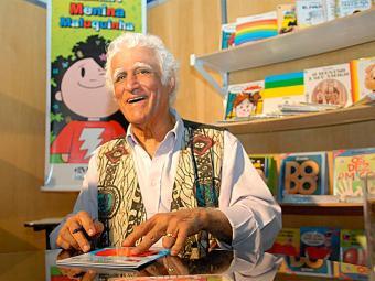 Ziraldo passa bem e participará da feira neste domingo - Foto: Renato Araújo | Agência Brasil