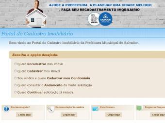 Contribuintes podem realizar cadastramento e recadastramento no site - Foto: Reprodução | Sefaz Bahia