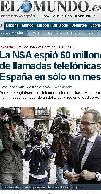 Destaque do jornal espanhol El Mundo - Foto: Reprodução