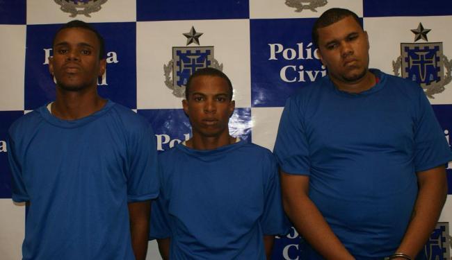 Bruno Santos Queiróz e Jaílton Cruz de Alencar Santos e o receptador Sidinei Santos Teixeira - Foto: SSP | Divulgação