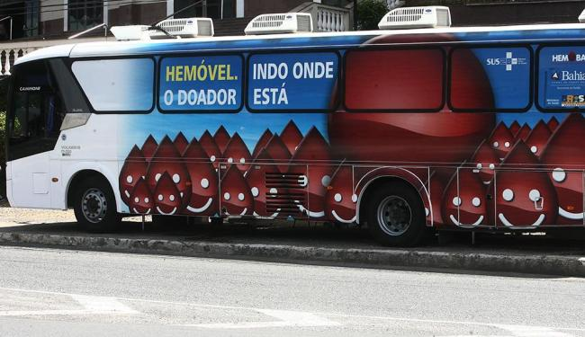 Unidade móvel da Hemoba fica até sexta, 4, no Salvador Shopping - Foto: Lunaé Parracho | Ag. A TARDE, 18/01/2011