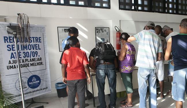 O prazo para o recadastramento de imóveis foi prorrogado até o próximo dia 15 - Foto: Mila Cordeiro | Ag. A TARDE