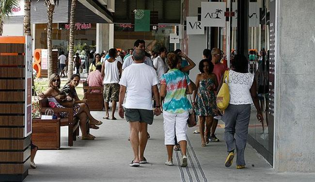 O novo centro de compras lotou na manhã deste sábado - Foto: Luciano da Matta   Ag. A TARDE