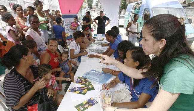 Ação do Outubro Rosa em Itinga teve grande procura por parte da população no sábado - Foto: Luciano da Matta | Ag. A TARDE