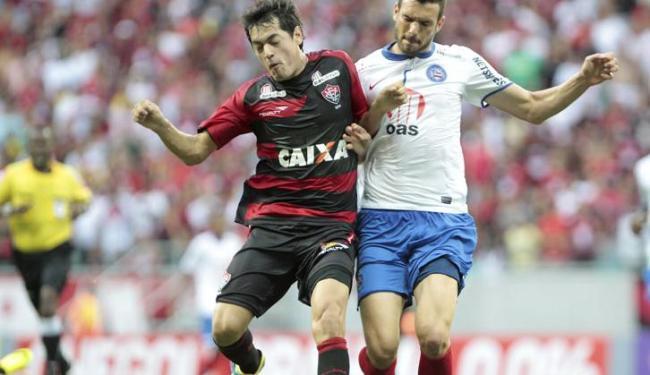 Primeiro Ba-Vi teve mando de campo do Vitória; jogo desta quarta tem mando do tricolor baiano - Foto: Eduardo Martins   Ag. A Tarde