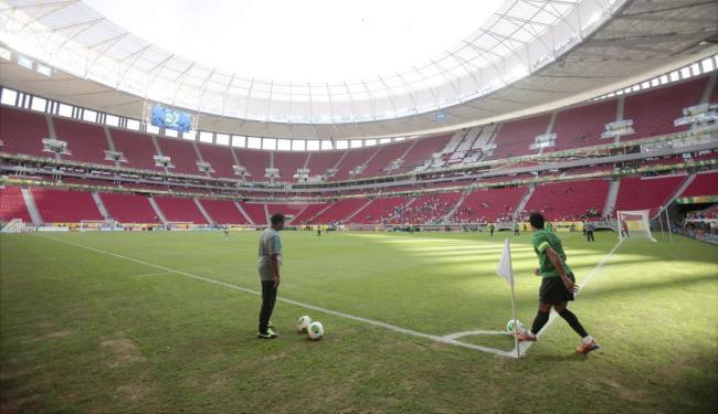 Mané Garrincha foi palco da final da Copa das Confederações, mas gramado foi duramente criticado - Foto: Raul Spinassé | Ag. A TARDE