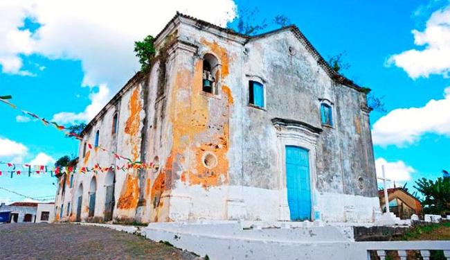 Igreja está fechada há cinco anos por risco de desabamento - Foto: Divulgação