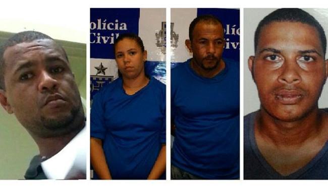 Da esquerda para a direita: Juraci Belo (PM reformado), Daíse, Osmário e Jorge Cardoso - Foto: Divulgação | Polícia Civil