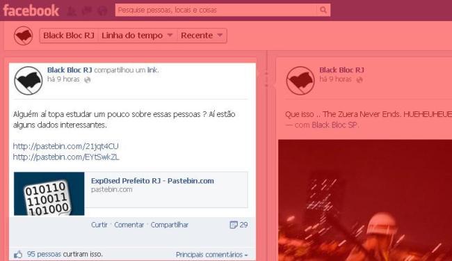 No destaque, postagem do grupo no Facebook - Foto: Reprodução | Ag. A TARDE