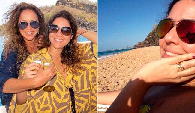 Daniela e Malu brindam em Fernando de Noronha - Foto: Reprodução | Instagram