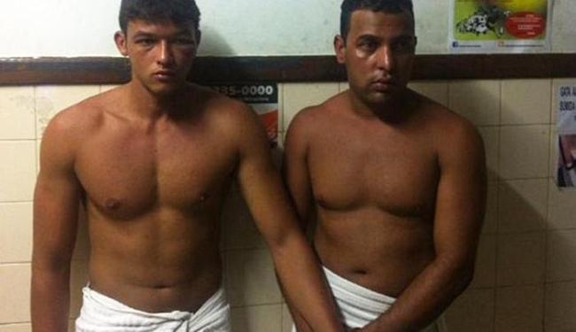 Lucas de Góis Costa e Gilmar de Almeida Campos Júnior foram presos em flagrante - Foto: Divulgação   Polícia Militar