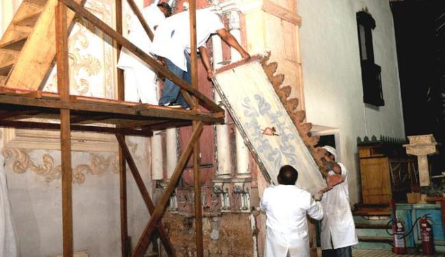 Obras de restauração tiveram início em abril de 2012 - Foto: Elias Mascarenhas/ Divulgação