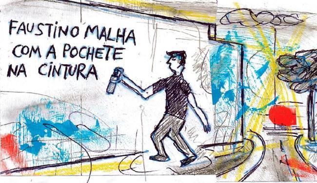 Miguel Cordeiro retoma personagem que marcou os muros da cidade nos anos 80 - Foto: Reprodução