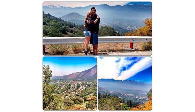 Xanddy e Carla Perez aproveitam o belo visual do Chile - Foto: Reprodução | Instagram