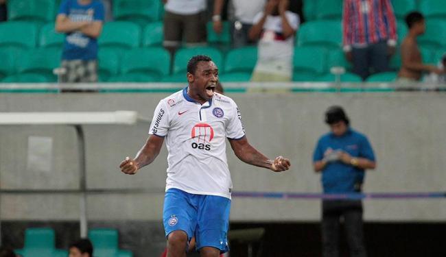O Bahia vai precisar da raça e do faro de gol de Obina para superar o Atlético-PR - Foto: Eduardo Martins | Ag. A TARDE