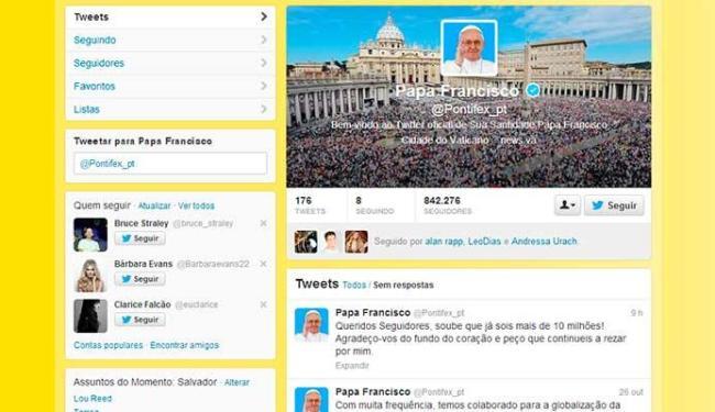 Papa agradeceu aos seguidores por ter atingido os 10 milhões - Foto: Reprodução
