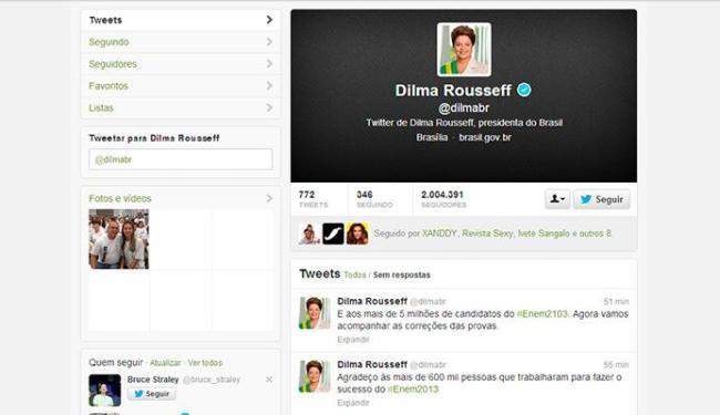 Dilma utilizou o microblo também para parabenizar os estudantes - Foto: Reprodução   Twitter