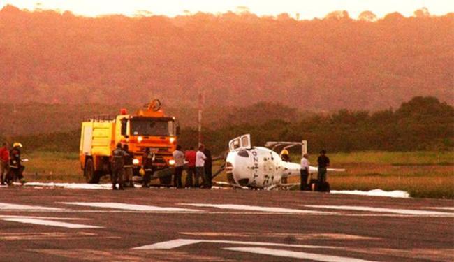 Piloto fazia testes de pouso e decolagem quando ocorreu o acidente - Foto: Foto | Jose Nazal