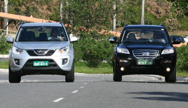 Tiggo está mais para jipinho urbano; já o X60 traz visual de crossover - Foto: Fernando Amorim | Ag. A TARDE