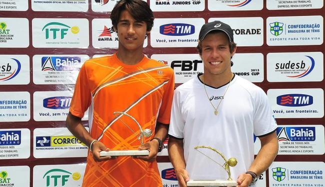 Leonardo Menezes (à esq.) e Silas Cerqueira (à dir.) foram campeões nas categorias 16 e 18 anos - Foto: Facebook | Reprodução