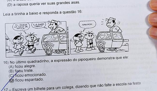 Mãe de aluno posto imagem da prova em rede social - Foto: Reprodução | Facebook