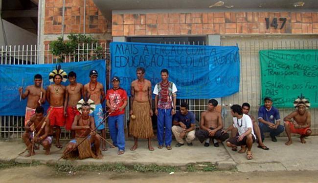Índios Pataxós da Aldeia Águas Belas, do município de Prado - Foto: SulBahiaNews | Divulgação