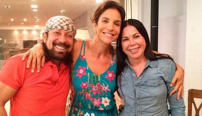 Bell foi visitar Ivete acompanhado da esposa, Ana Marques - Foto: Divulgação