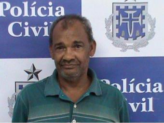 O pedreiro Hélio José dos santos, de 54 anos, foi preso duas horas depois do assassinato - Foto: Divulgação/ Polícia Civil