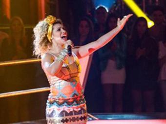 A cantora foi escolhida por Brown na primeira fase do programa - Foto: Divulgação | The Voice Brasil