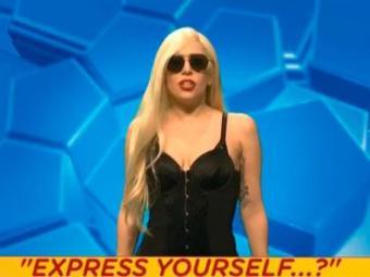 Lady Gaga durante o quadro do programa - Foto: Reprodução   SNL