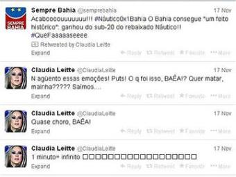 Claudia Leitte acompanha online o sofrimento do Bahia e manda incentivo - Foto: Reprodução
