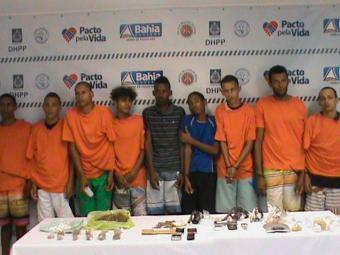 Operação foi realizada nos bairros da Mata Escura, Jardim Santo Inácio e Calabetão. - Foto: Divulgação/ Polícia Civil