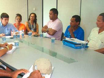 Flanelinhas suspenderam protesto após reunião com superintendente da Transalvador - Foto: Divulgação | Transalvador