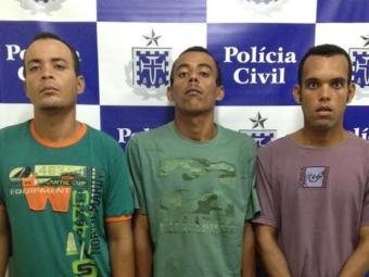 Os três foram encaminhados ao Presídio de Lauro de Freitas - Foto: Divulgação/Polícia Civil